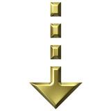 3D Golden Download Arrow poster