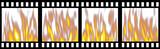 Burning Film Strip poster