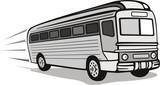 1930s coach bus poster