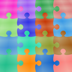 Colorfull Puzzle Background