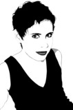 Woman with short hair: Vector poster