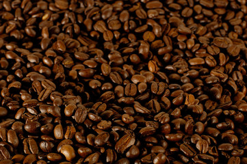 Roasted guatemala's coffee grains