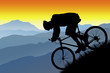 roleta: mountain bike silhouette vista