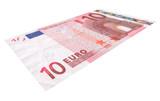 Ten Euro banknote poster