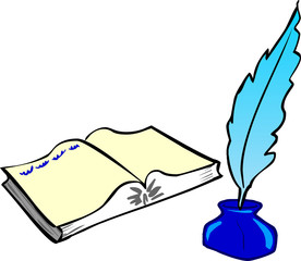 Book, Feather and Ink