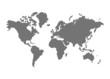 Leinwanddruck Bild - Weltkarte
