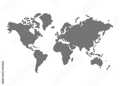 Leinwanddruck Bild Weltkarte