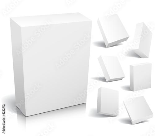 Blank box, vector
