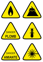 Collection de panneaux de danger 2