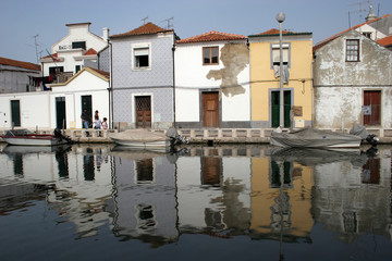 Reflex of a typical Aveiro's houses