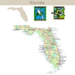USA states series: Florida. Political map