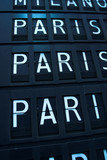 Flights to Paris - airport info board poster