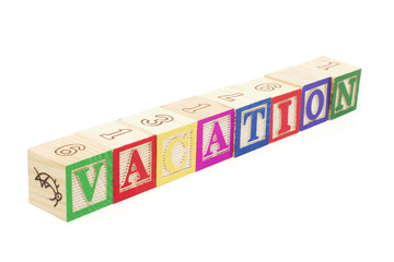 Alphabet Blocks - Vacation