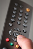 Digital television remote poster