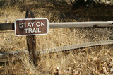 Stay On Trail Sign poster