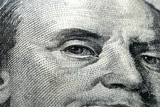 Money 100 dollar bill close-up