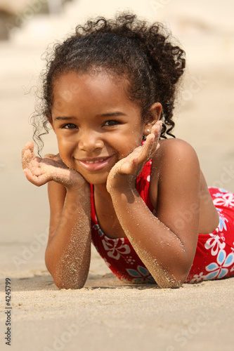 child on a beach