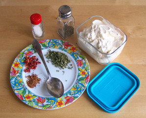 yogurt cheese preparation