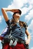 Girl in hike poster