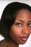 African american woman with eye contact poster