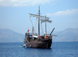 great pirat ship in sea (in Turkey)