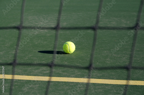 Tennis Ball through Net