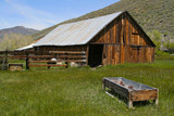 Rustic, old, abandoned farm and pasture in the Sierras - U.S.  poster