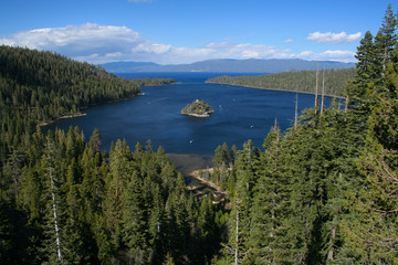 Beautiful Emerald Bay in Lake Tahoe, California, USA.