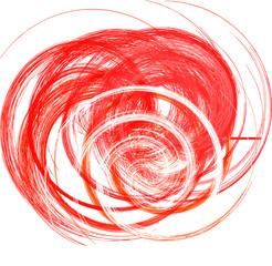 abstrakt Form aus Spiralen