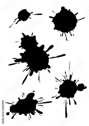 Collection de taches d 39 encre fichier vectoriel libre de - Tache d encre sur tissu ...