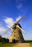 Traditional dutch windmill in Latvia poster