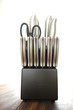 knife set on white background