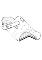 Schuh-Querschnitt