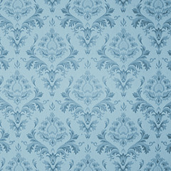 old blue vintage wallpaper