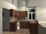 3d rendering of kitchen
