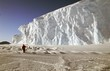 Leinwanddruck Bild - gigantesque mur de glace