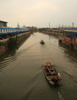 Boats on the Grand Canal in China
