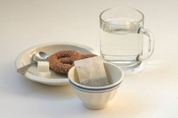 tea with a biscuit