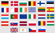 Flags of all twenty-seven member states of European Union