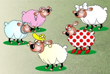 Mascote Ovelhas Fashion