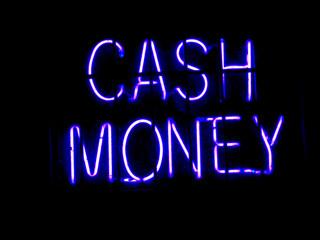 Neon Cash Money sign