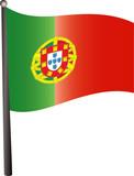 Drapeau espagnol flottant fichier vectoriel libre de - Drapeau portugais a imprimer ...