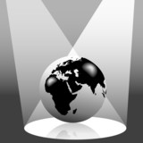 Earth Globe in Spotlight East poster