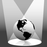 Earth Globe in Spotlight West poster