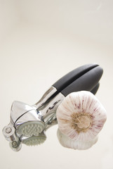 garlic press kitchen gadget