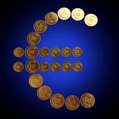 Coins euro symbol