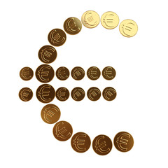 Euro coins symbol