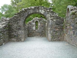 ancient chapel in glendalough ireland