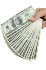 money in fingers