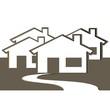 illustration, lotissement, habitations